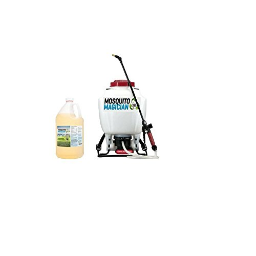 Mosquito Magician Battery Backpack Sprayer with 1 Gallon Natural Mosquito Killer & Repellent Concentrate by Mosquito Magician