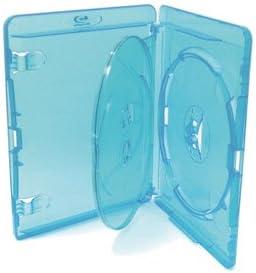 AMARAY - Juego de cajas para DVD (10 cajas con capacidad para 3 discos, 15 mm)