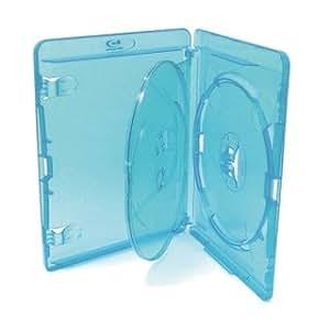 AMARAY - Juego de cajas para DVD (20 cajas con capacidad para 3 discos, 15 mm)