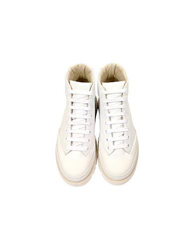 Cuir Mm6 Baskets S59WS0064P172996135 Femme MARGIELA MAISON Blanc wXa8Onq