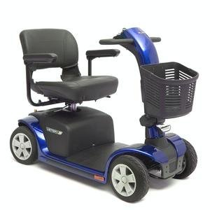 VICTORY 10 Pride Mobility 4-wheel Electric Scooter SC710 Blue + FREE ACCESSORIES by Pride Mobility