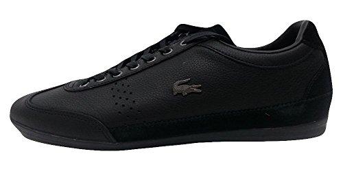 Lacoste Men's Misano 34 SRM Leather Sneakers 7-29SRM2410 Black US 9.5