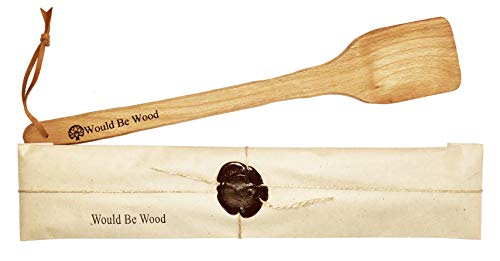 Large Wooden Spoon - Strong and Natural Long Handled Wooden Spatula - 17.72 -inch Wooden Cajun Stir Paddle for Brewing, Grill, Mixing, Stirring.