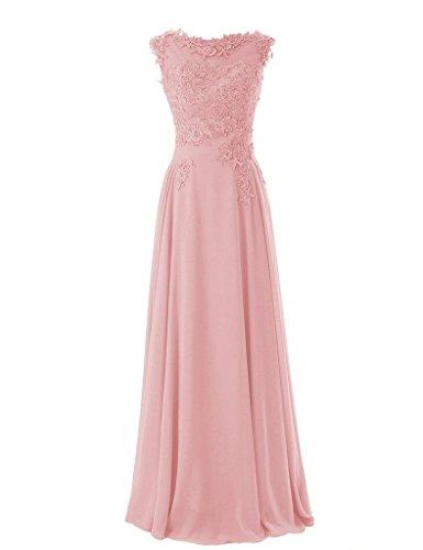Shiningdress Women's Fashion Applique Scoop Neck Evening Dress Size 16 Blush