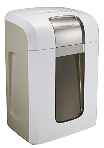 Bonsaii Paper Shredder, 240 Minutes Continuous Shredding, 10-Sheet Micro Cut (25/64 inches) with 7.9 Gallons Wasterbasket, White (4S30)