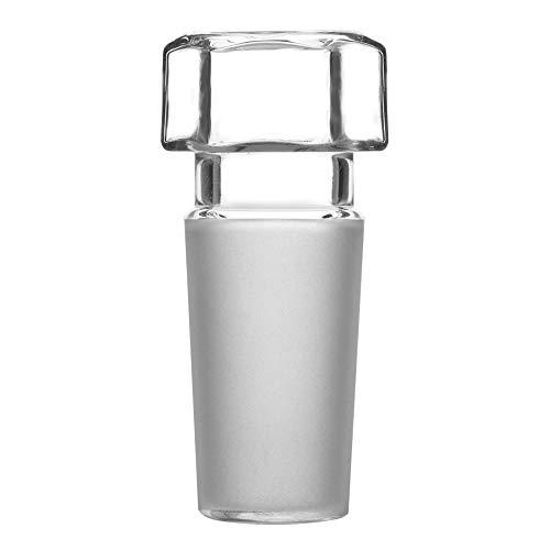stonylab Glas-Stopper mit Sechskantkopf, Hohlglas Sechskantkopf, Glas-Hohlstopfen für 14/20 Außen-Gelenkglas mit Geschlossenem Boden (1 Stück)