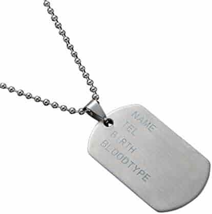 75d592dbf1 Men's Necklace Titanium Steel Pendant Stainless Steel Mens Necklace  Stainless Steel Pendant Dog Tags Nameplate Pendant