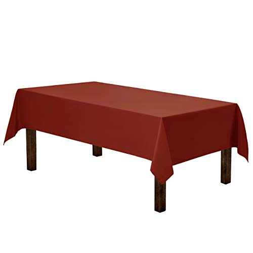Gee Di Moda Rectangle Tablecloth - 60 x 84 Inch - Burnt Orange Rectangular Table Cloth in Washable Polyester - Great for Buffet Table, Parties, Holiday Dinner, Wedding & More (Tablecloth Rectangle Small)