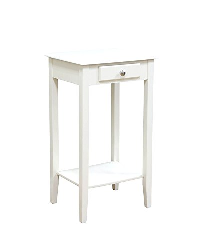 Amazoncom Narrow Phone Stand White End Table With Lower Bottom