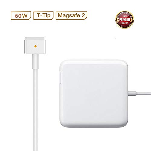 Mac Pro Charger Replacement for MacBook Pro with 13-inch Retina Display After 2012 Ac 60W Magsafe 2 T-Tip Power Adapter Connector (Macbook Pro 13 Inch 2015 With Retina Display)