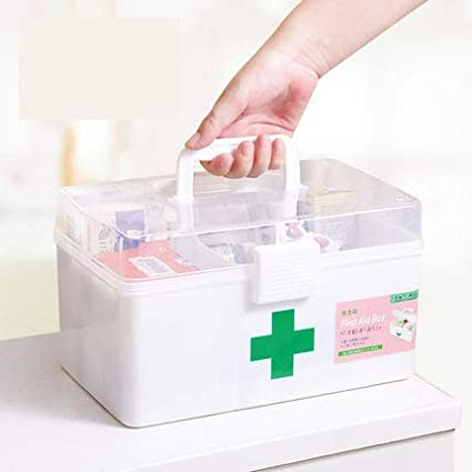 Amazon.com: Storage Boxes Bins - Household Medicine Box ...