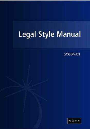 The Legal Style Manual