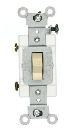 Leviton 12021-2I 3-Amp, 24 Volt AC/DC, Toggle Single-Pole, Industrial Grade, Self-Grounding, Ivory ()
