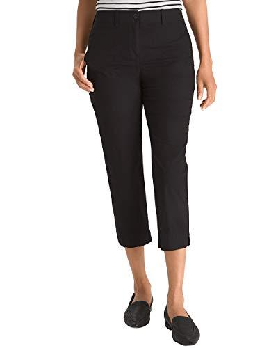 Stretch Wide Leg Crop Pants - Chico's Women's Secret Stretch Straight-Leg Crop Pants Size 0/2 XS (00) Black