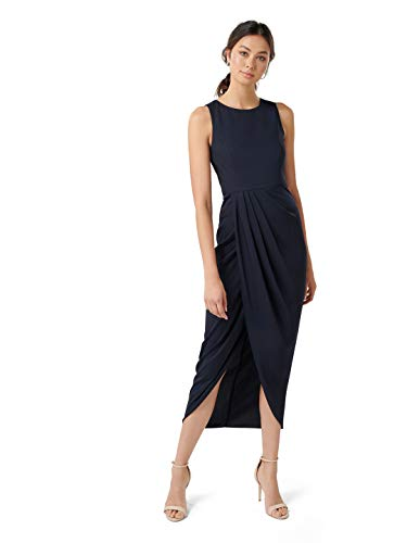 Ever New Womens Lilly Drape Dress Navy ()