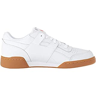 Reebok Men's Workout Plus Cross Trainer, White/Carbon/Classic red, 7 M US