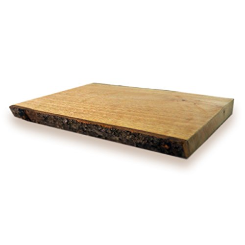 RoRo 12 in Hand-carved Wood Rectangular Serving Board with Bark Sides, 12