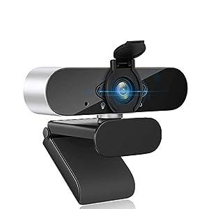 Flashandfocus.com 315qORkkSqL._SS300_ Webcam with Microphone Computer Camera,1080P Webcam for Desktop, USB Plug and Play HD Web Camera with Privacy Cover for…