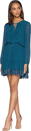 Womens Couture Dress (Juicy Couture Black Label Womens Flirty Chiffon Mini Party Dress Blue M)
