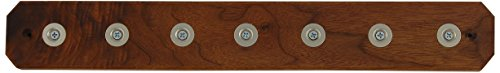 Ginkgo International 7-Position Magnet Knife Bar, 15-Inch, Walnut