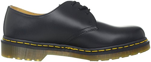 Dr. Martens 1461 Crazy Horse, Zapatos de Cordones Oxford para Hombre Negro (Nero - Cucitura Gialla (Noir (Black Smooth Z Welt)))