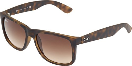 Ray-Ban RB4165 710/13 JUSTIN - RUBBER LIGHT HAVANA Frame BROWN GRADIENT Lenses 54mm - Polarized Lenses Rb4165