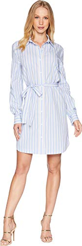 Juicy Couture Women's Stripe Cotton Shirtdress Sushine Pinstripe Small