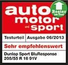 Sommerreifen DUNLOP 185//60 R14 82H SP Sport Blu Response