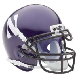 NCAA Northwestern Wildcats Mini - Mini Northwestern Helmet Wildcats Authentic