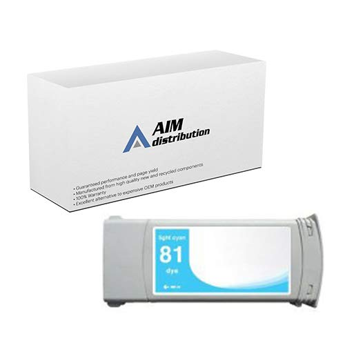 AIM Compatible Replacement for HP NO. 81 Light Cyan Dye Inkjet (680 ML) (C4934A) - Generic