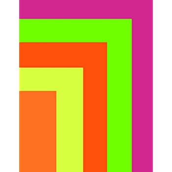 24327 22 x 28 Inches Neon Pink Canary Royal Brites Fluorescent Poster Board 5-Sheet Pack