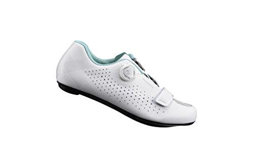 Shimano 2018 Women's Versatile Race Road Cycling Shoes - WHITE - SH-RP5WW (WHITE - 44.0) by Shimano