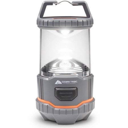 Ozark Trail Outdoor Equipment 200 Lumen Multi-Mode Camping Lantern,Ultra-Portable with Carrying Handle and Carabiner Clip,Projects a Smooth,Glare-Free Light Perfect for Campsite,Tent,Camper etc.