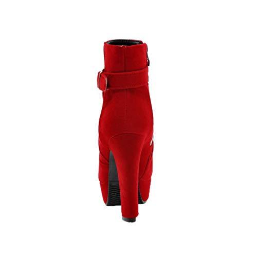 Zipper Aalardom punta Rosso Baja Stivali Tacco Women a Caña tsmxh015740 chiusa qZqxI5rw