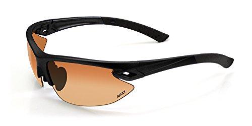 2017 Maxx Sunglasses TR90 Maxx 13 HD Black Amber - Maxx Sunglasses