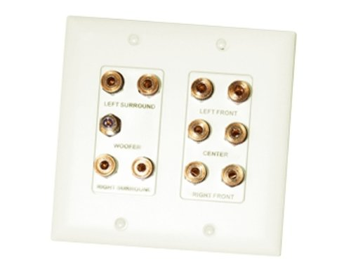 On-Q F9008LAV1 5.1 Home Theater Connection Kit, Light Almond