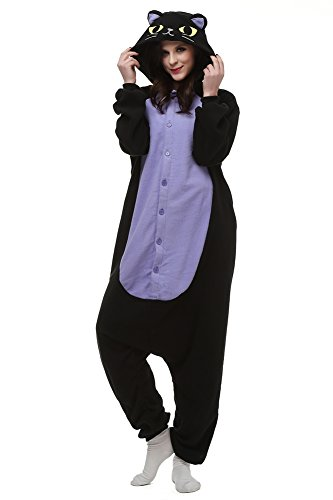 Sayadress Lovely Animal Cosplay Costumes Pajamas for Unisex Adults Midnight Cat
