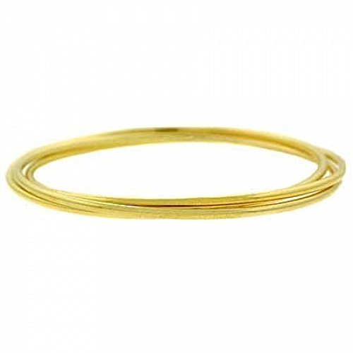 Glitzs Ensemble de 3 bracelets en vermeil or 24 ct