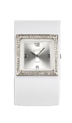 eton 2791-W – Reloj de mujer de cuarzo, correa de plástico color blanco