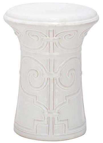 Safavieh Imperial Ceramic Decorative Garden Stool, White