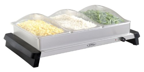 (Broil King TBS-3SP Triple Buffet Server with Clear Polycarbonate Lids)