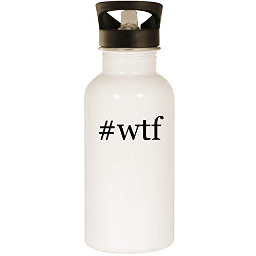 #wtf - Stainless Steel Hashtag 20oz Road Ready Water Bottle, White