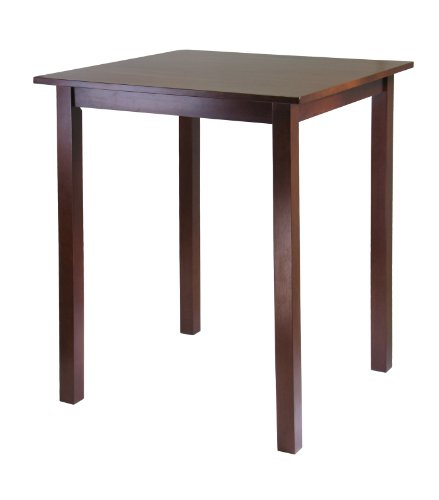 Winsome Solid Wood Parkland Pub Square Table (Dining Table Wood Square Solid)