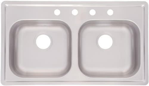 Kindred Fmsb654nb Double Bowl Stainless Steel 33 X 19 Inch Top Mount Sink Amazon Com