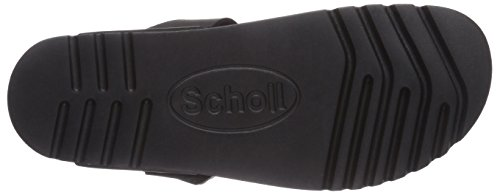 Scholl EVIS black - Sandalias de dedo de cuero Unisex adulto negro - negro