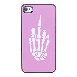 Hand Bone Pattern Hard Case for iPhone 4/4S
