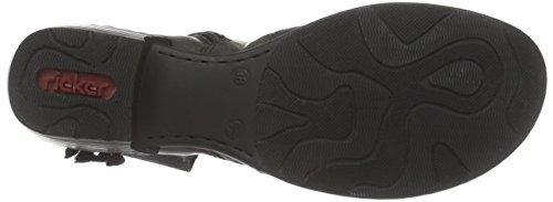 schwarz caño Grau Rieker72262 Gris Mujer 45 botas de bajo fumo FA8f7