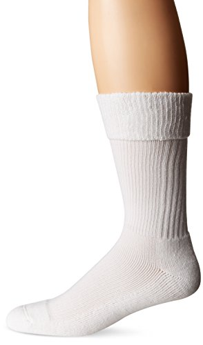 Dr. Scholls Mens Advanced Relief Work Compression Crew, White, 11-15