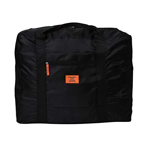 PomPomHome Nylon Portable Handbag Travel Accessories Large Capacity Folding Travel Luggage Waterproof Storage Bag House Organizer (Black)