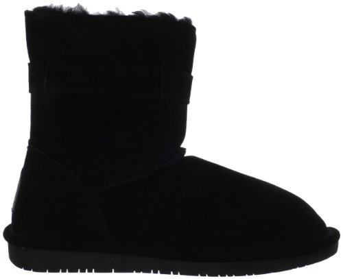 Suede Black Calf Cold Tessa Mid Boots Toe Womens Round Bearpaw Weather EgaqH